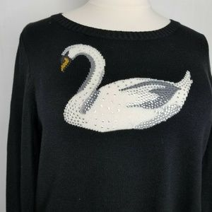 Charter Club Sweaters - Charter Club Black Swan Sequin Cotton Sweater